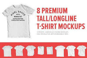 Premium Tall/Longline T-Shirt Mocks