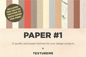 Paper #1 - 15 Paper & Vector Texture