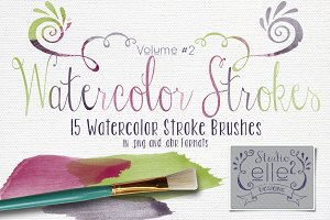 Watercolor Strokes Vol. 2