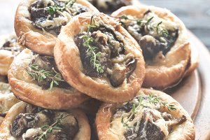 Tartelettes with shiitake