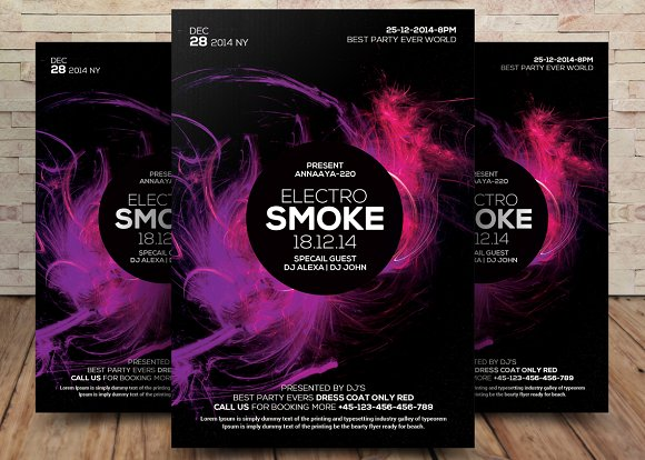 Color Smoke Flyer Poster