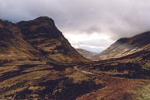 Glencoe Valley Scotland landscape