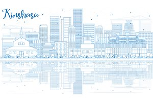 Outline Kinshasa Skyline