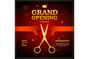 Grand Opening Invitation Card