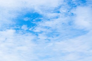 Blue sky with clouds background (HDR)