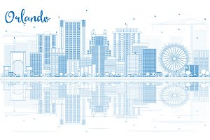 Outline Orlando Skyline
