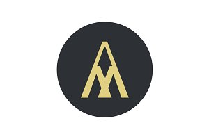 Logo for letter A and M