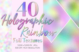Holographic Rainbow Foil Textures