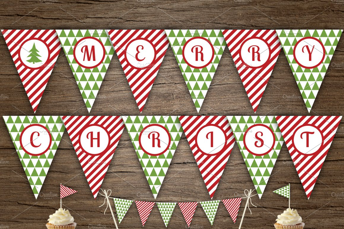 It is a picture of Agile Printable Merry Christmas Banner