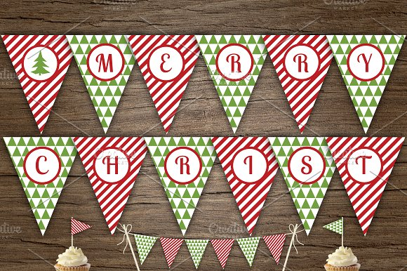Red Green Merry Xmas Banner