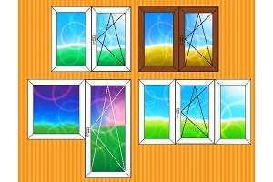 Set of window templates