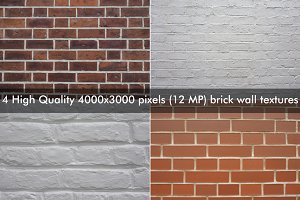 4 High Quality brick textures