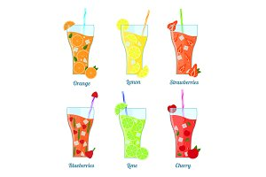 Fruit Lemonades Set