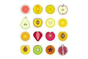 Fruit Slices Set, Frame, Background