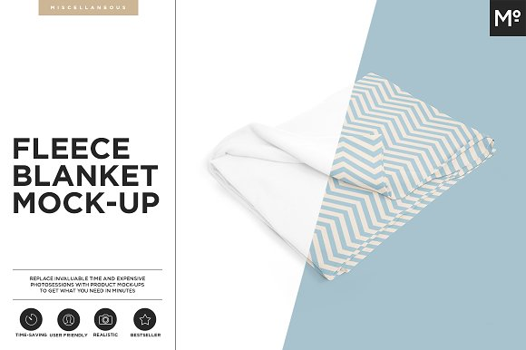 Download Fleece Blanket Mock-up