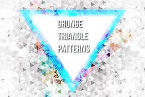 Grunge Vector Triangle Patterns