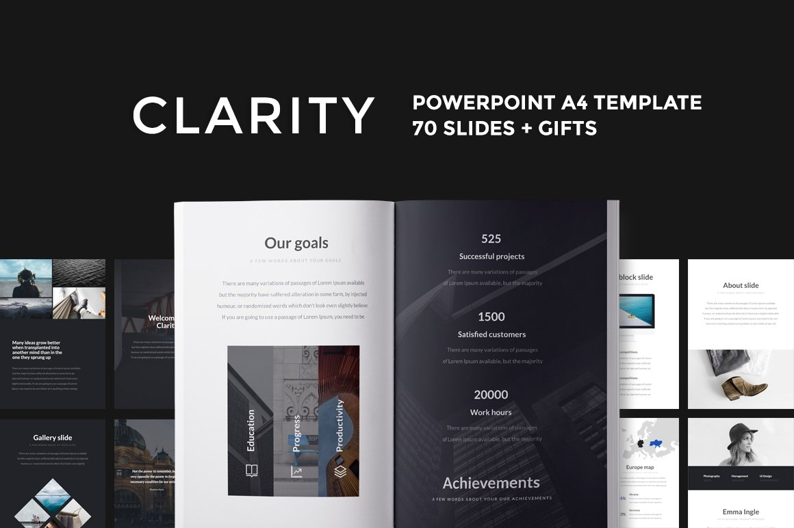 A4 iris powerpoint template presentation templates creative a4 clarity powerpoint template alramifo Gallery