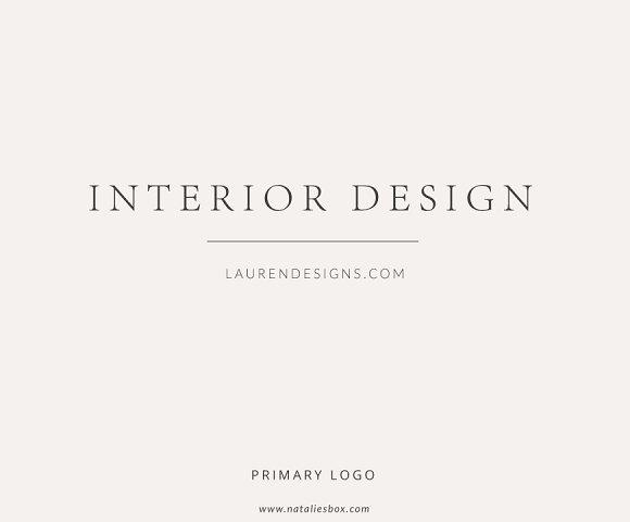 Ideal Feminine Custom Logo Interior Design ~ Logo Templates ~ Creative  JM09