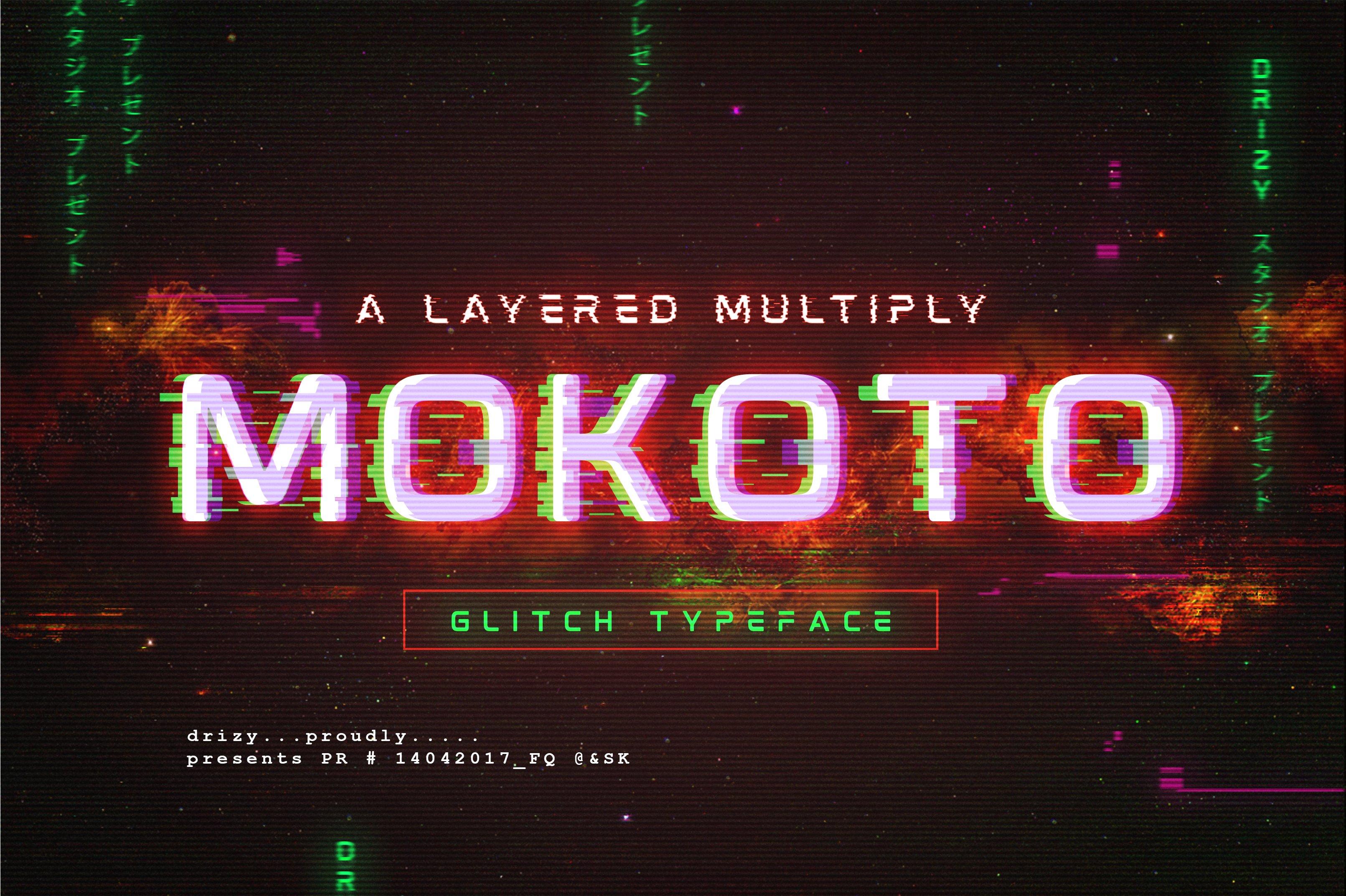 Mokoto Glitch Typeface ~ Display Fonts ~ Creative Market