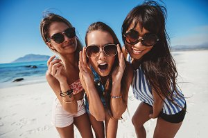 Female friends on summer vacation