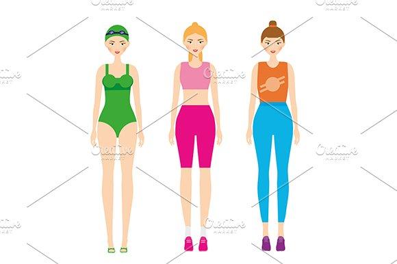 Woman In Sportswear Fitness Outfit