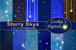 Starry Skies Digital Paper Pack