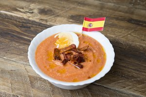 Salmorejo (typical spanish food)