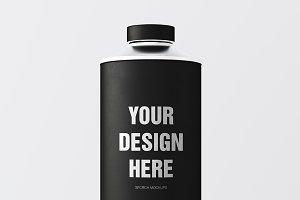 Black Matte Color Metal Jar 3in1