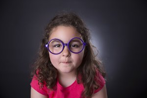 Girl and glasses