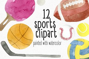 Watercolor Sports Clipart