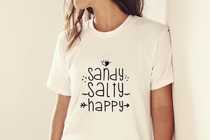 Sandy Salty Happy Cutting File