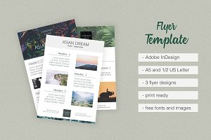 Asian Dream 3 Flyer Templates Pack