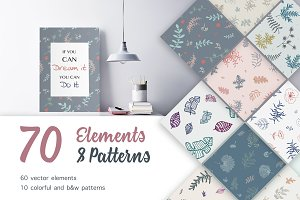 Floral Elements and Patterns