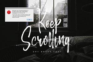 Keep Scrolling handwritten font