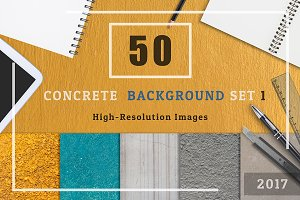50 Concrete Textured Background Set1