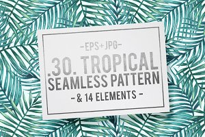 50%OFF! Tropical patterns + elements