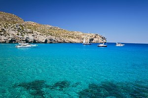 Cove in Majorca. Idyllic seascape.