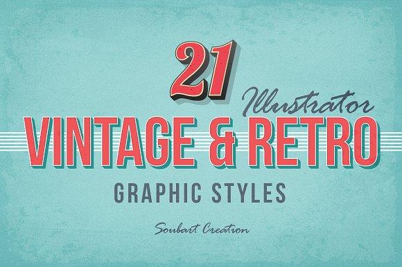 21 VINTAGE RETRO Graphic Styles