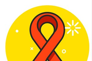Red ribbon icon