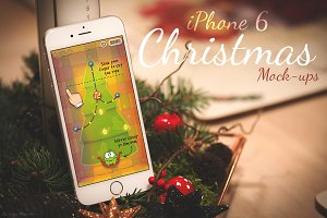 iPhone 6 Christmas Mock-Ups