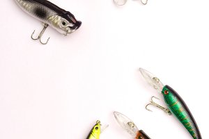 Fishing lures wobblers and poppers