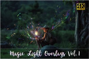 4K Magic Light Overlays Vol. 1