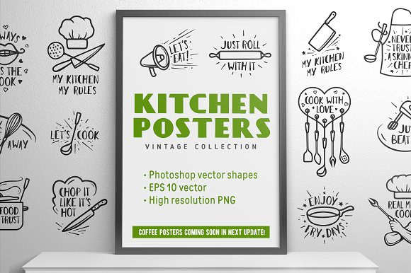 Kitchen Posters Collection ~ Illustrations ~ Creative Market