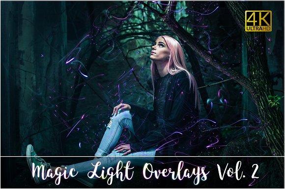 4K Magic Light Overlays Vol-Graphicriver中文最全的素材分享平台