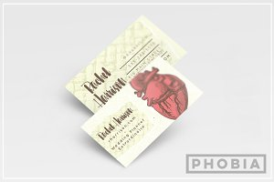 Illustrated Heart Business Card
