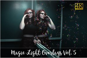 4K Magic Light Overlays Vol. 5