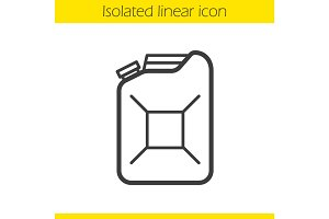 Gasoline canister linear icon