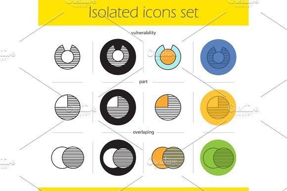 Abstract Symbols Icons Set
