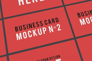 Business Card Mockup N°2