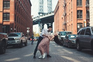 Young couple dancing in Brooklyn